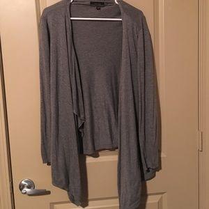 Grey High/Low Cardigan